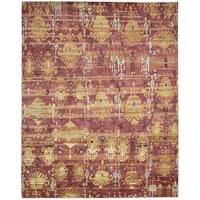 Nourison Dune Flame Wool Area Rug - 5'6 x 8'