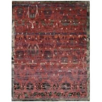 Nourison Dune Pomegranate Wool Area Rug (5'6 x 8') - 5'6 x 8'