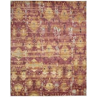 Nourison Dune Flame Wool Area Rug (7'9 x 9'9)