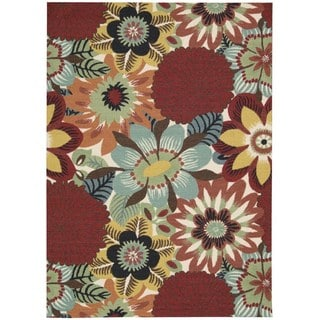 Nourison Vista Floral Multicolor Rug (5' x 7')