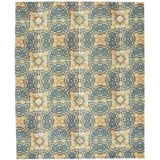 Nourison Vista Blue/Gold Rug (8' x 10')