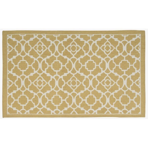 "Waverly Art House Lovely Lattice Gold Area Rug by Nourison (2'3 x 3'9) - 2'3"" x 3'9"""
