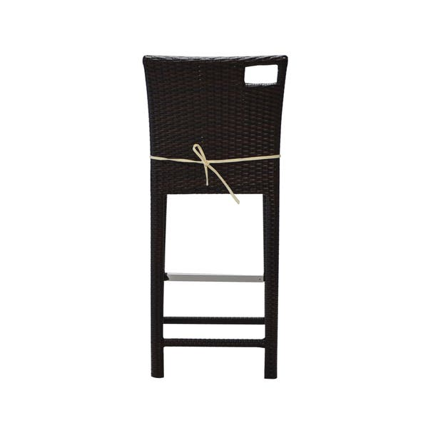 Pleasant Shop Bienal 30 Inch Sydney Outdoor Wicker Bar Stool With Caraccident5 Cool Chair Designs And Ideas Caraccident5Info