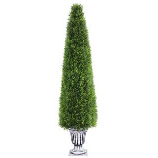 72-inch Upright Juniper Tree in a Silver Urn