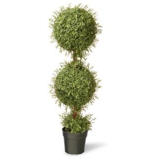 48-inch Mini Tea Leaf 2-ball Topiary in Pot