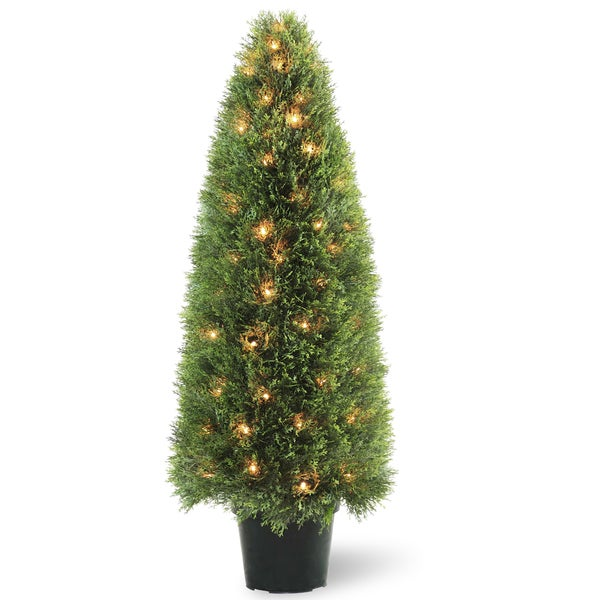 Upright Juniper Tree with 100 Clear Lights
