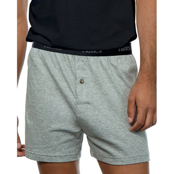 98dc480f8bf01 Shop Hanes Classics Men's ComfortSoft Tagless Knit Boxers (Pack of 5) -  Free Shipping On Orders Over $45 - Overstock - 9788080