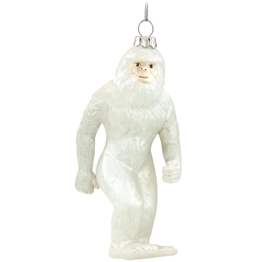 Abominable Snowman Yeti Hanging Glass Christmas Tree Ornament Overstock 9788099