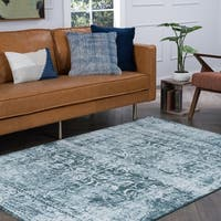 Alise Essence Blue Area Rug - 7'6 x 10'3