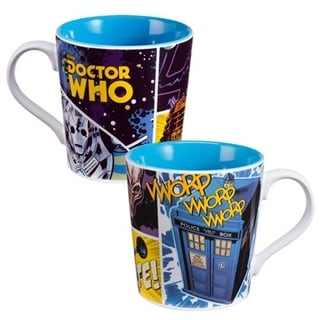 Doctor Who Comic Book Coffee Mug
