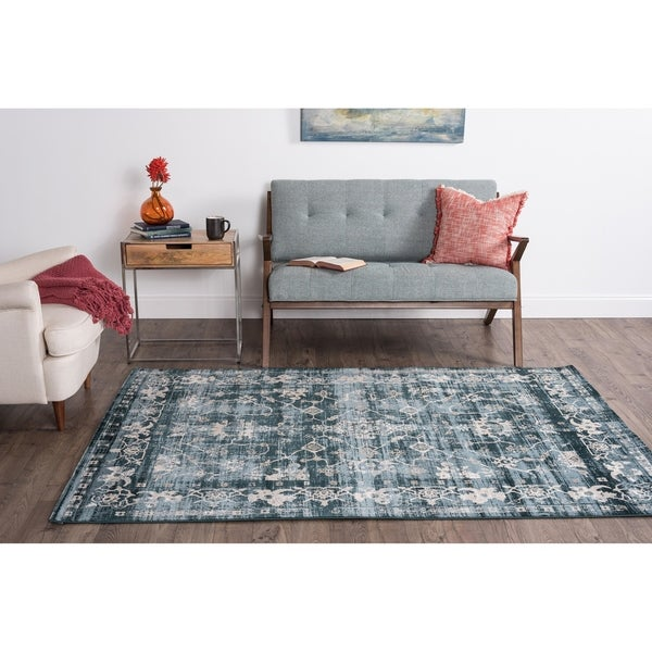 Alise Essence Blue Area Rug (7'6 x 10'3)
