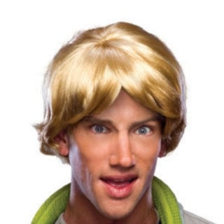 Men's Parted Blonde Surfer Costume Wig