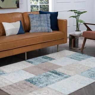 Alise Essence Blue Area Rug ((5'3 x 7'3))