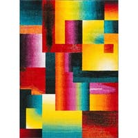 Alise Rugs Rhapsody Contemporary Abstract Area Rug - multi - 5'3 x 7'3