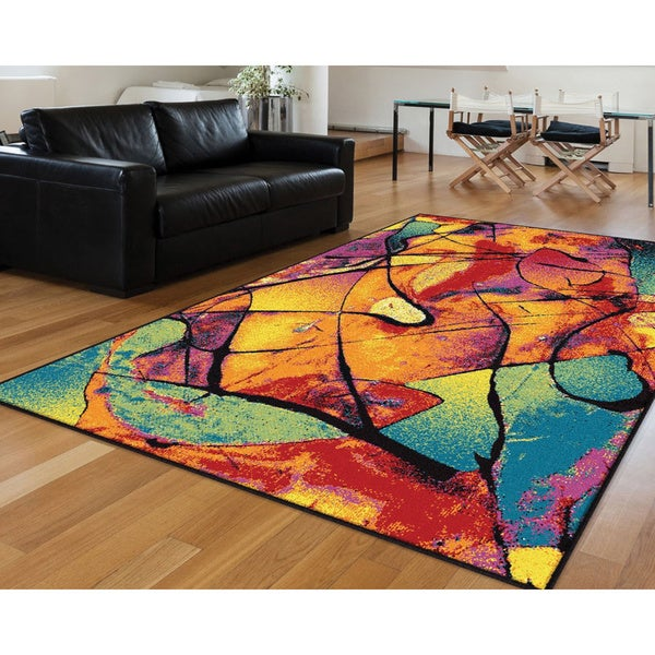 colorful area rugs alise rhapsody multi area rug 5 x 8 5 3 x 7 3 free 12630