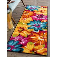 Alise Rugs Rhapsody Contemporary Abstract Runner Rug - multi - 2'7 x 7'3