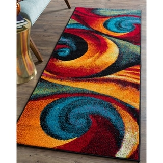 Alise Rugs Rhapsody Contemporary Abstract Runner Rug - 2'7 x 7'3