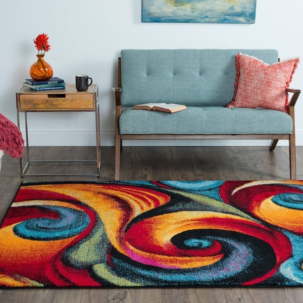 Alise Rugs Rhapsody Contemporary Abstract Area Rug - 7'10 x 10'3