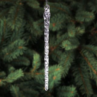 6 inch clear glass icicle hanging christmas tree ornaments