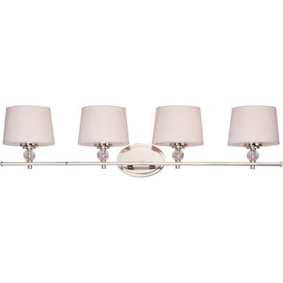 Maxim Nickel 4-light Rondo Bath Vanity Light