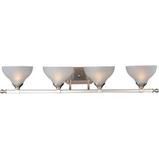 Maxim Nickel 4-light Contour Bath Vanity Light