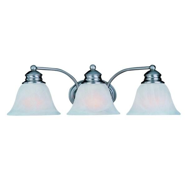 Maxim Nickel 3-light Malaga Bath Vanity Light