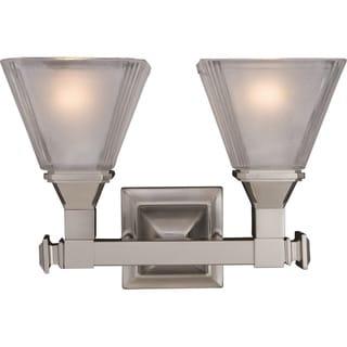 Maxim Nickel 2-light Brentwood Bath Vanity Light