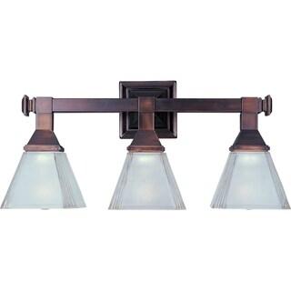 Maxim Bronze 3-light Brentwood Bath Vanity Light