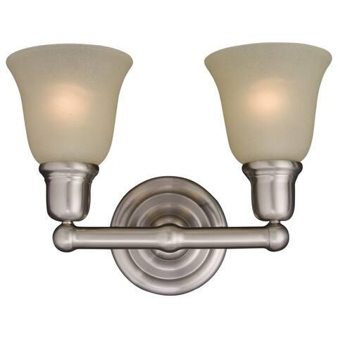 Maxim Nickel 2-light Bel Air Bath Vanity Light