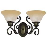 Maxim Bronze 2-light Pacific Bath Vanity Light