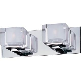 Maxim Chrome 2-light Cubic Bath Vanity Light