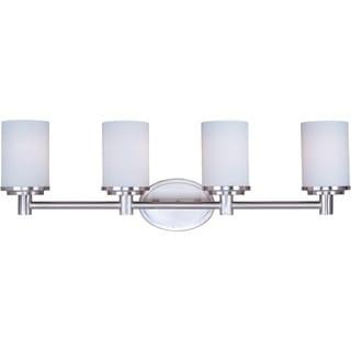 Maxim Nickel 4-light Cylinder Bath Vanity Light