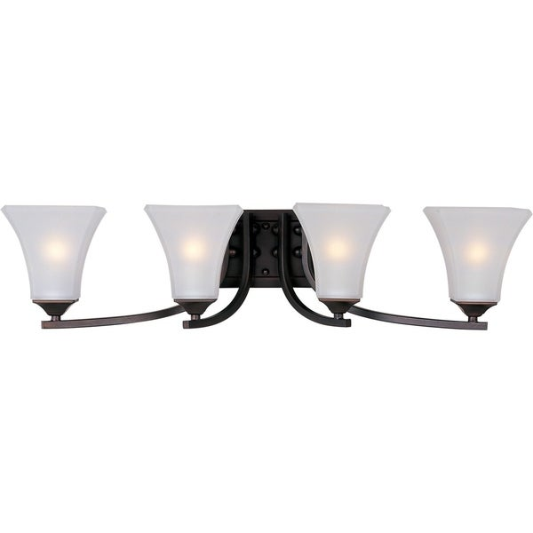 Maxim Bronze 4-light Aurora Bath Vanity Light