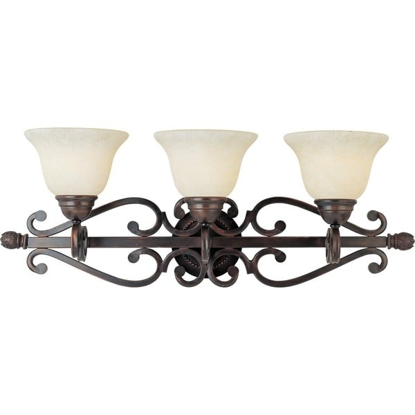 Maxim Bronze 3-light Manor Bath Vanity Light