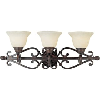 Maxim Bronze 3-light Manor Bath Vanity Light