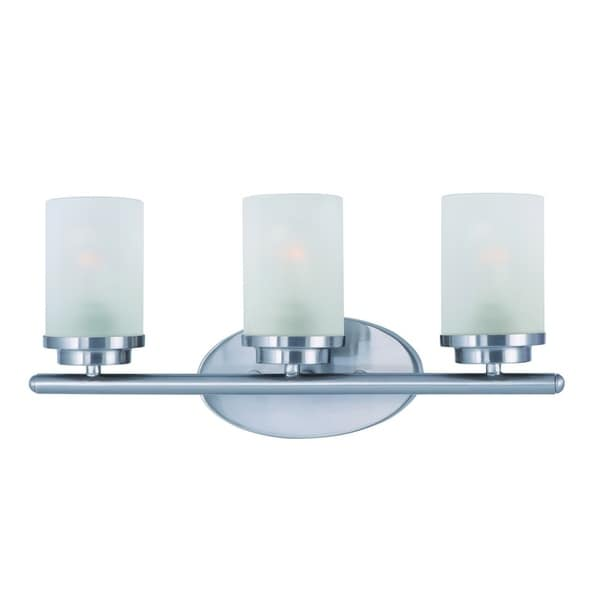 Maxim Nickel 3-light Corona Bath Vanity Light