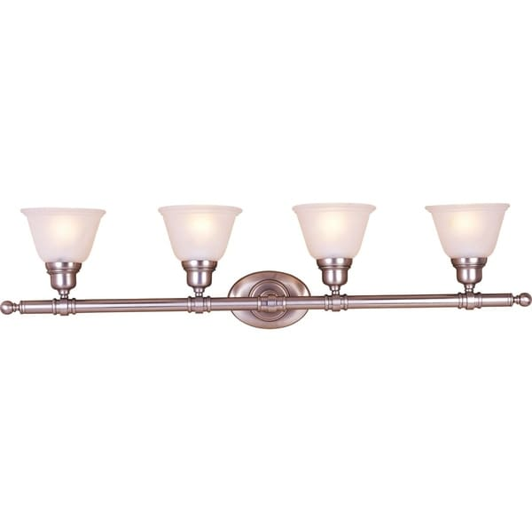 Shop Maxim Nickel 4 Light Essentials 714x Bath Vanity Light