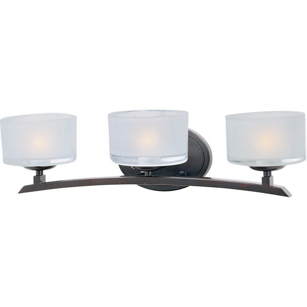 Maxim Bronze 3-light Elle Bath Vanity Light