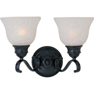 Maxim Black 2-light Linda Bath Vanity Light
