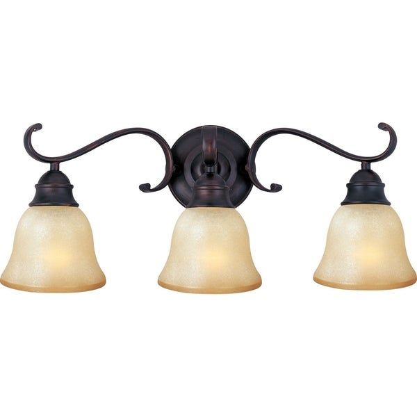 Maxim Bronze 3-light Linda EE Bath Vanity Light