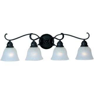 Maxim Black 4-light Linda Bath Vanity Light