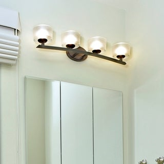 Maxim Bronze 4-light Elle Bath Vanity Light