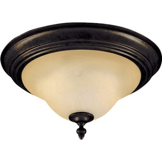 Maxim Bronze 2-light Pacific Flush Mount Light