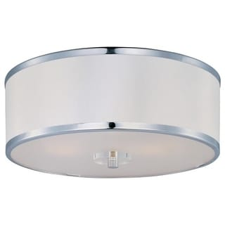 Maxim Chrome 3-light Metro Flush Mount Light