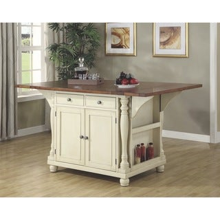 Gracewood Hollow Seton Two Tone Kitchen Island
