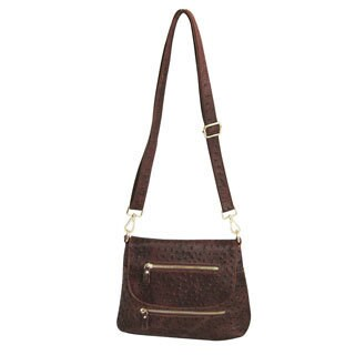 Amerileather 'Breezy' Mini Brown Crossbody