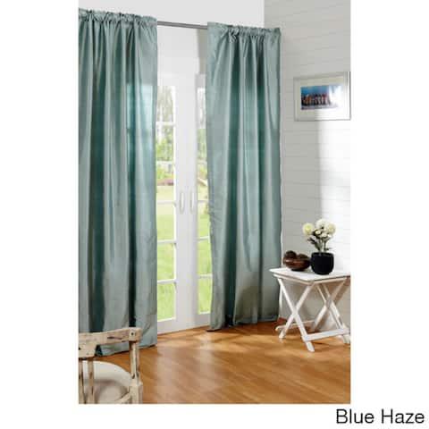 Dupioni Silk Rod Pocket 96-inch Curtain Panel - 42 x 96