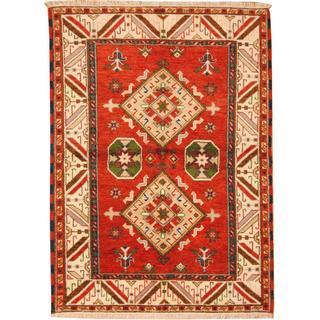 Herat Oriental Indo Hand-knotted Tribal Kazak Wool Rug (4'8 x 6'7)