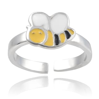 Journee Collection Sterling Silver Bumble Bee Toe Ring