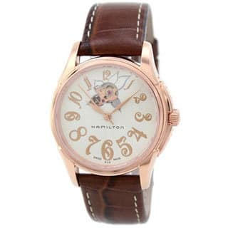 Hamilton Women's 'H32345983' Rose Gold Automatic Watch|https://ak1.ostkcdn.com/images/products/9788578/P16957524.jpg?impolicy=medium
